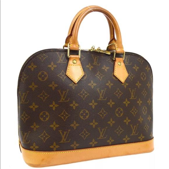 Louis Vuitton Handbags - LOUIS VUITTON ALMA HAND BAG PURSE MONOGRAM CANVAS
